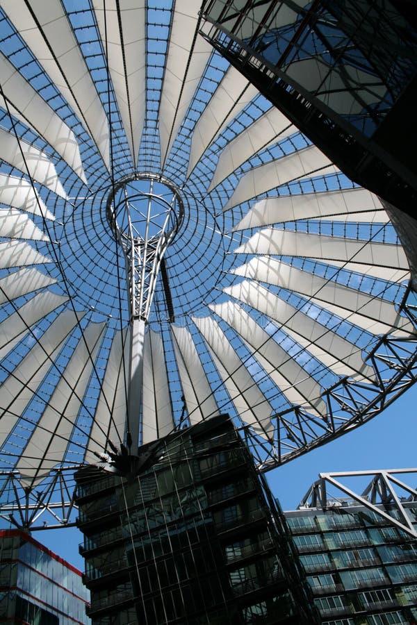 Sony centrerar i Berlin Potsdamer Platz arkivfoto