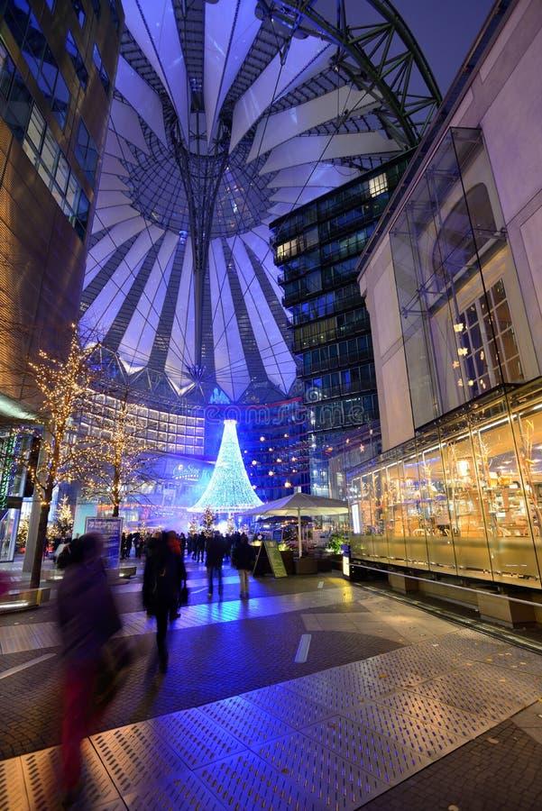 Sony centrum na Potsdamer Platz w Berlin obrazy royalty free
