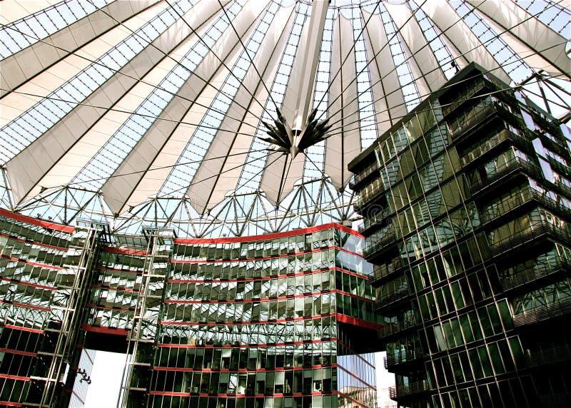 Sony centrum przy Potsdamer Platz w Berlin, Niemcy obrazy stock