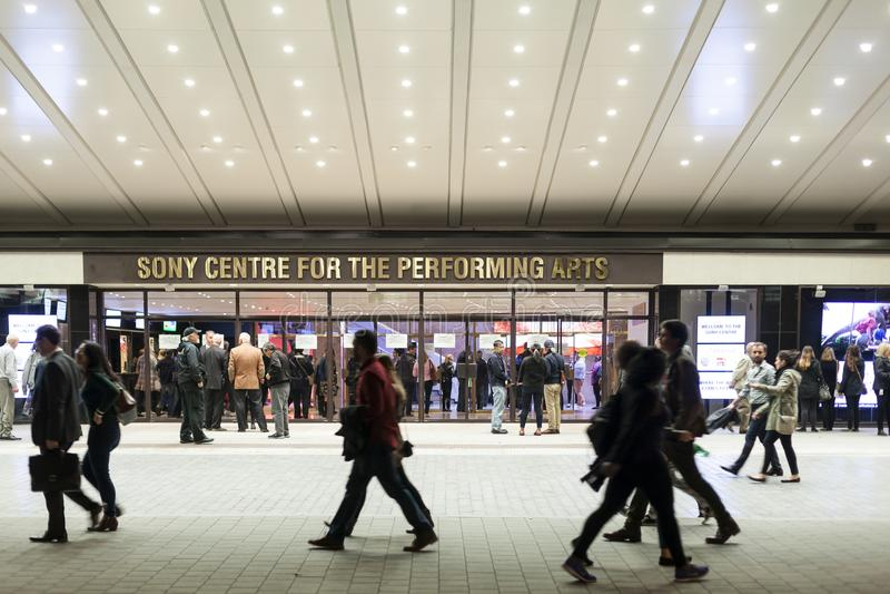 Sony-centrum voor de uitvoerende kunsten in Toronto stock afbeelding