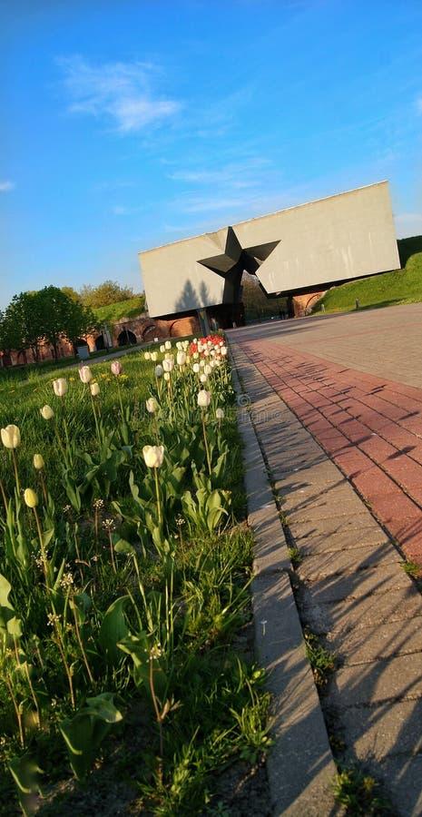 Fortress Brest Belarus temple landscape stock images