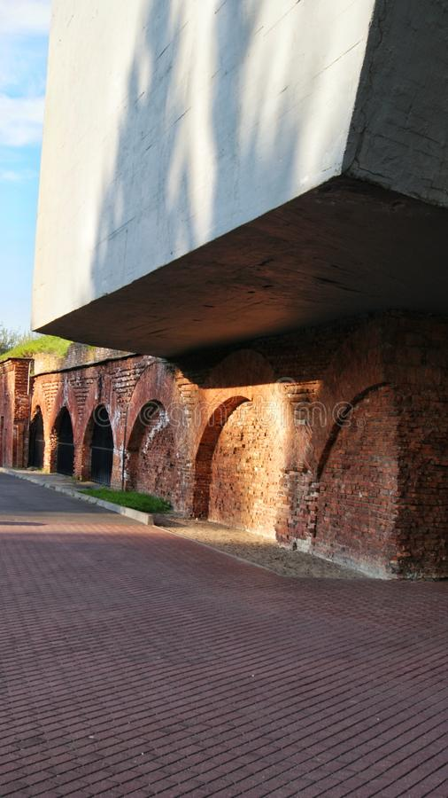 Fortress Brest Belarus temple landscape royalty free stock image
