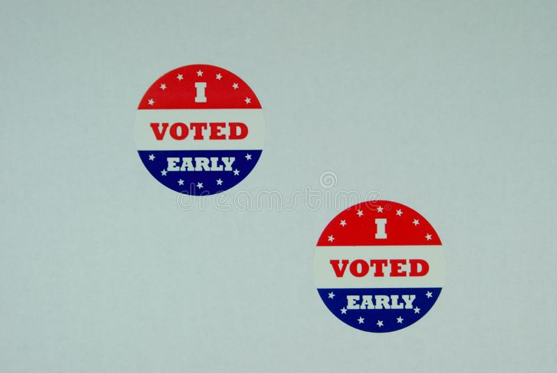 Election Badges For Voting Early royalty free illustration