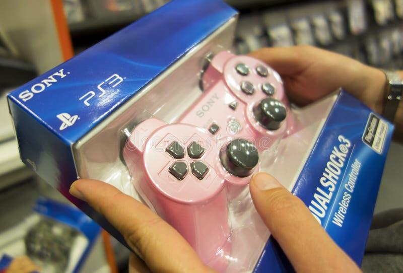 Sony Dualshock®3 trådlös kontrollant för PlayStationen 3 arkivbild