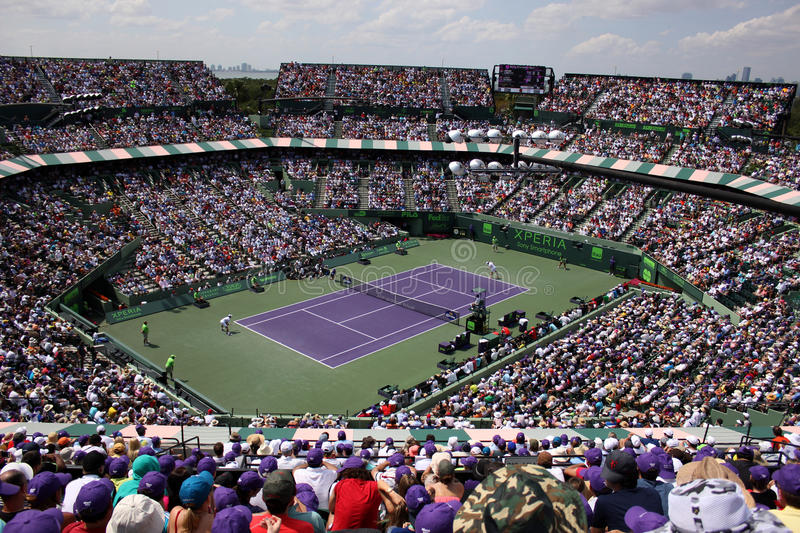 Sony Ericsson Open in Miami, Florida royalty-vrije stock foto