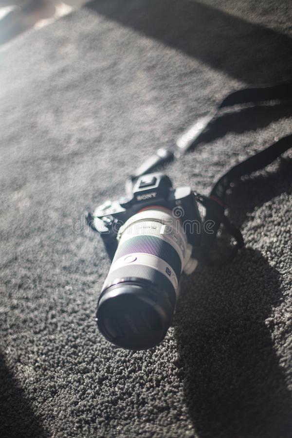 Sony a7ii kamery dslr fotografia obraz stock