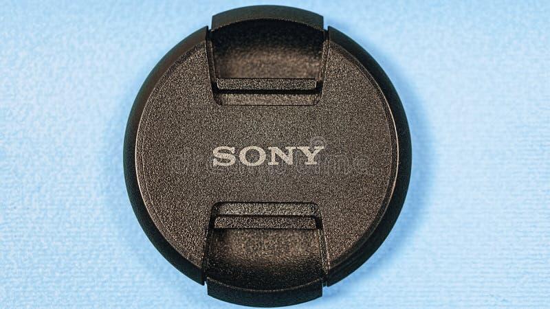 Sony, objectif de caméra, chapeau, moderne, caméra, numérique photo libre de droits