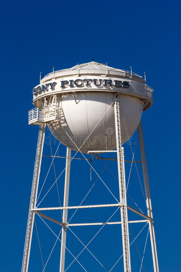 Sony Pictures Water Tower arkivfoton