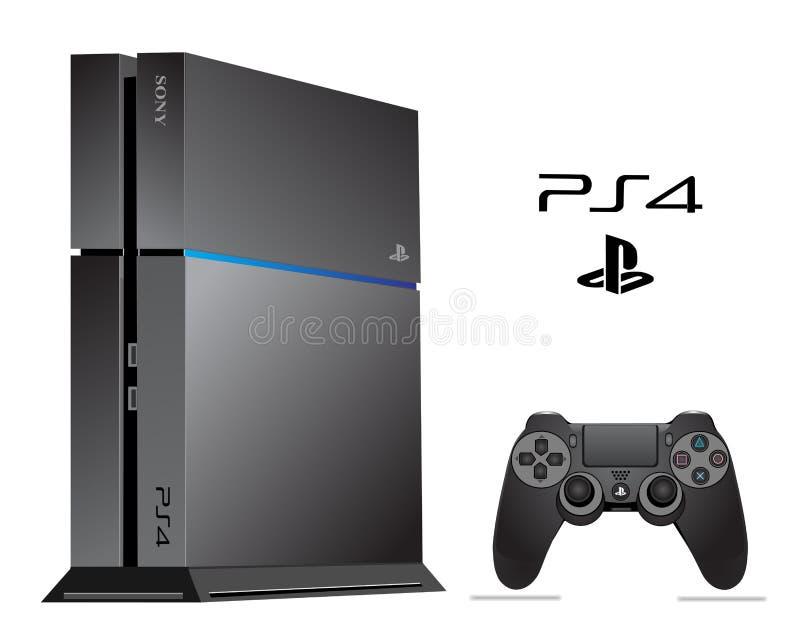 Sony PS 4. Sony Playstation 4 vector illustration eps 10