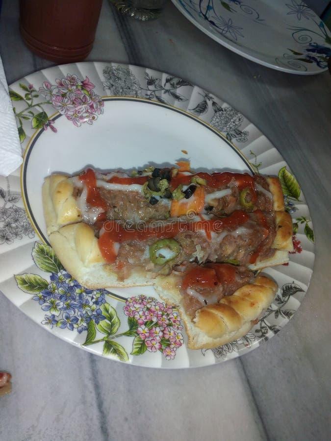 soo heiße Pizza stockfoto