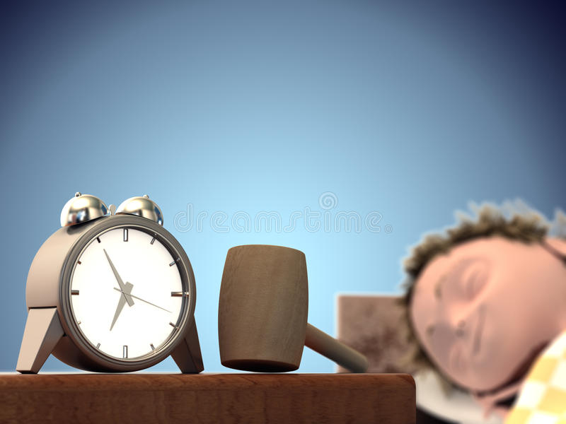 Download Soon it's time wake up stock illustration. Image of male - 23547921
