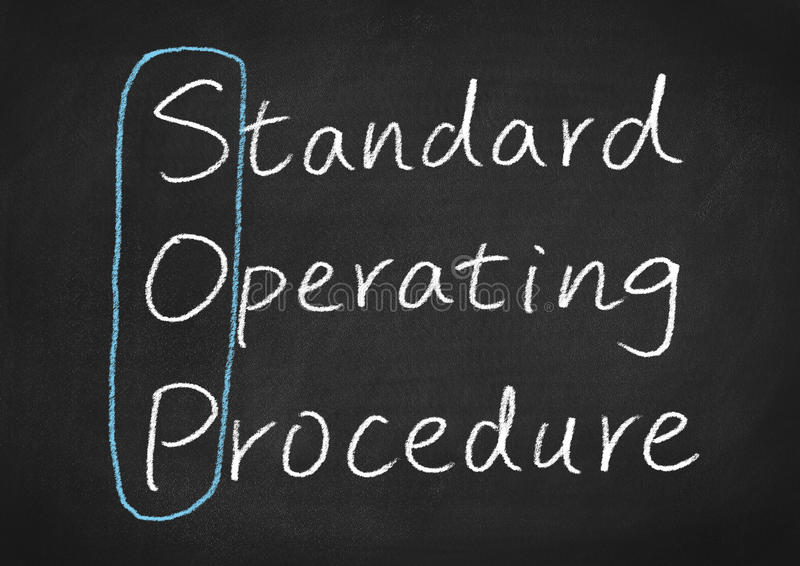 Sop τυποποιημένη λειτουργική διαδικασία στοκ εικόνες με δικαίωμα ελεύθερης χρήσης