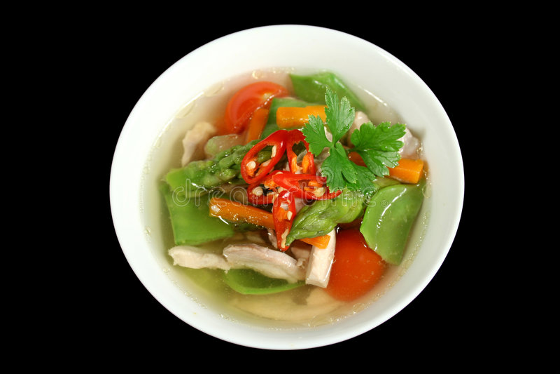 Sopa 1 do galinha e a vegetal imagens de stock royalty free
