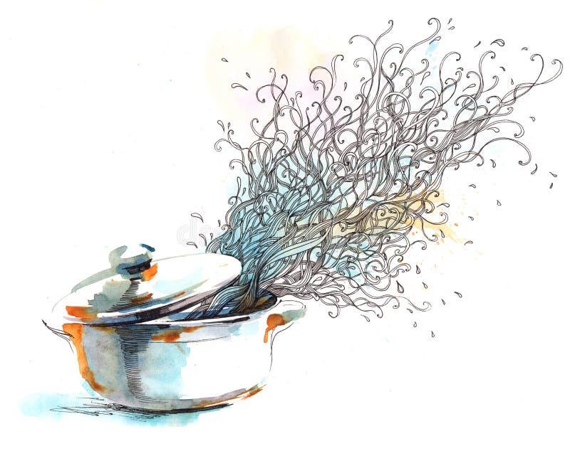 Sopa ilustración del vector