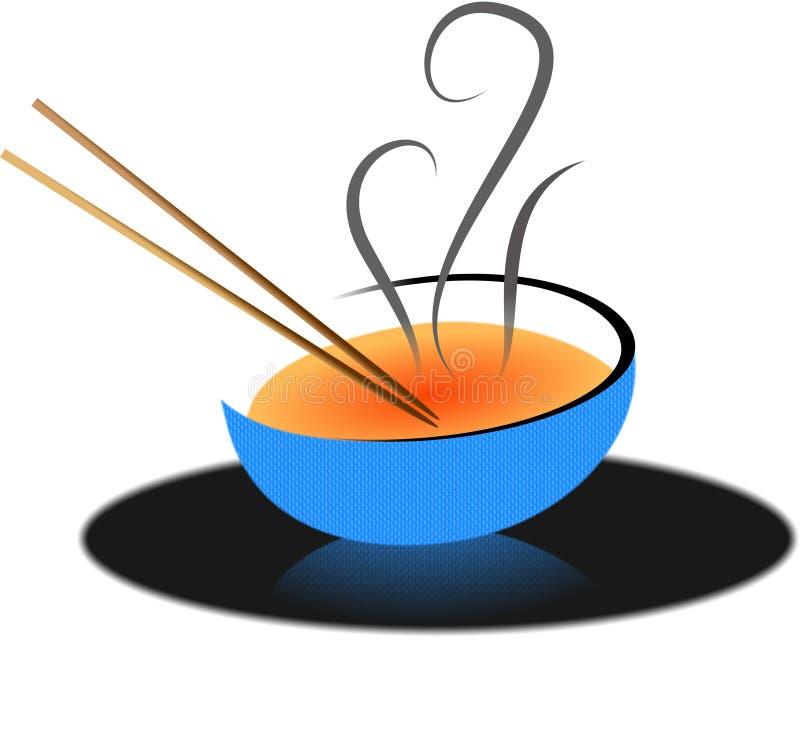 Sopa asiática ilustração royalty free