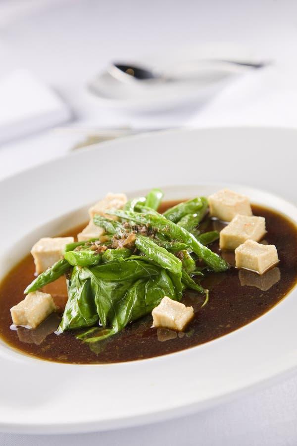 Sopa asiática com tofu fotografia de stock royalty free