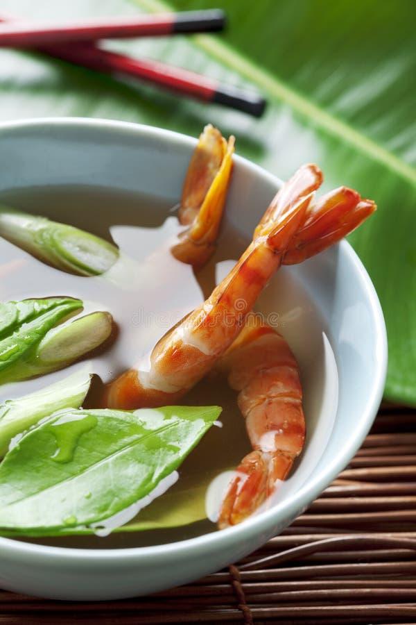 Sopa asiática do marisco fotos de stock
