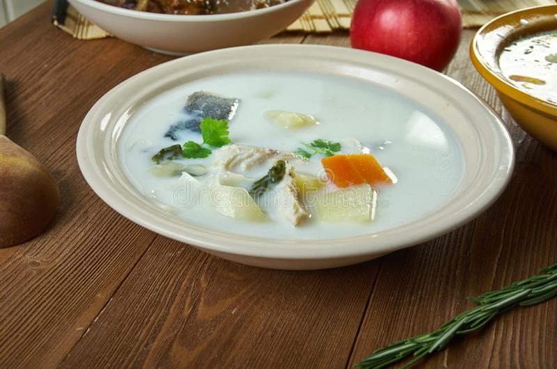 Sopa belga dos peixes foto de stock royalty free