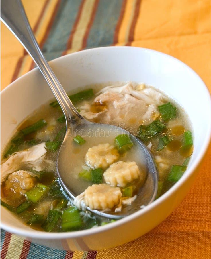 Sopa china del maíz imagen de archivo