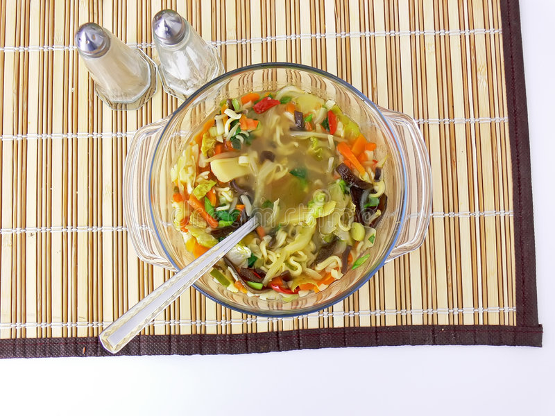 Sopa chinesa foto de stock royalty free