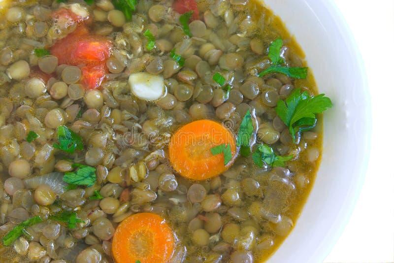 Sopa com lentilha foto de stock royalty free