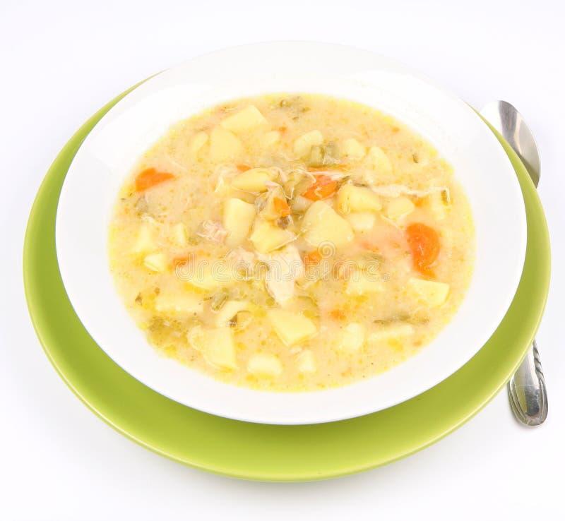 Sopa conservada do pepino fotografia de stock
