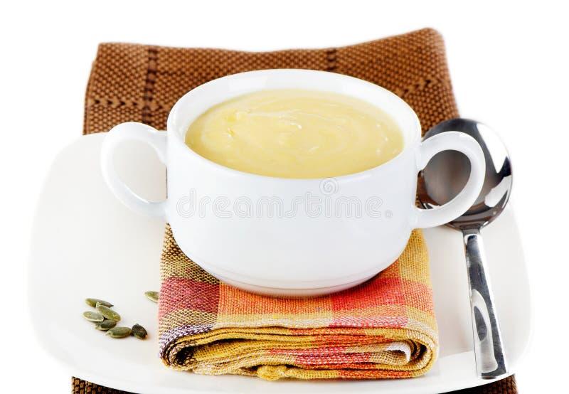 Sopa cremosa da abóbora fotos de stock royalty free