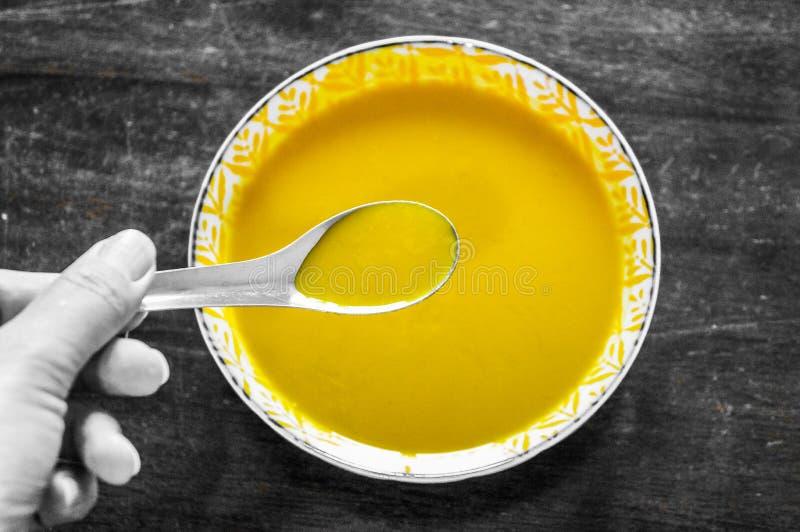Sopa da abóbora, conceito da cor imagens de stock royalty free