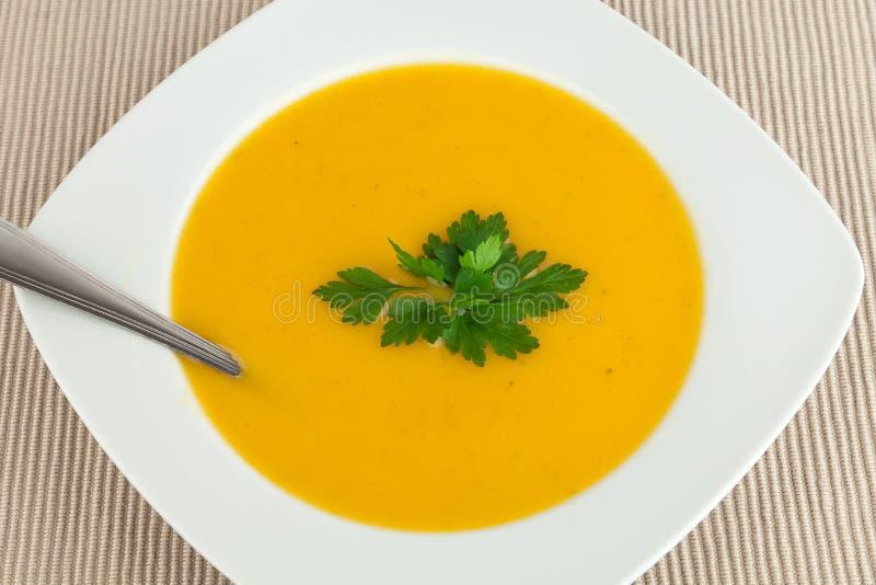 Sopa da cenoura. fotografia de stock royalty free