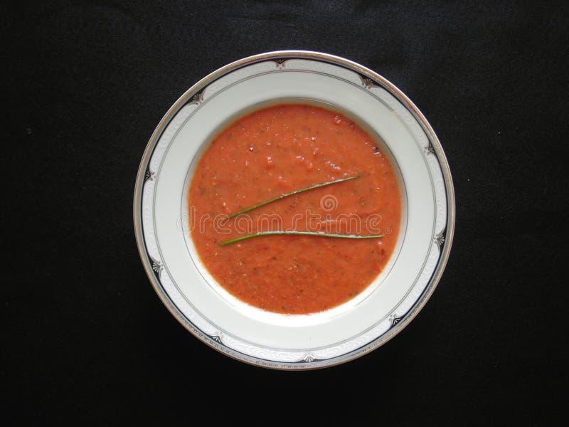 Sopa da manjericão do tomate foto de stock royalty free