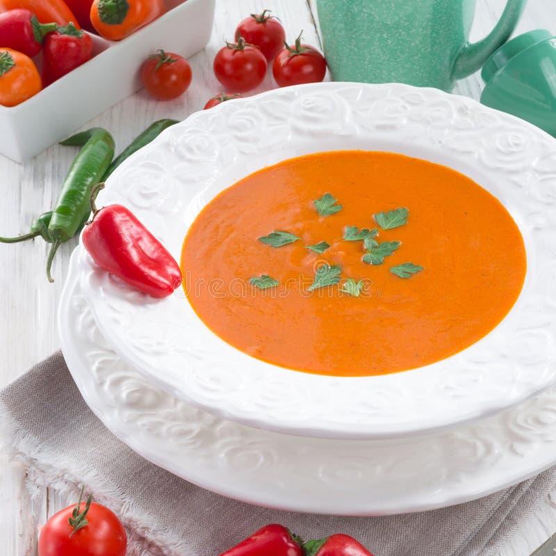 Sopa da paprika imagem de stock royalty free