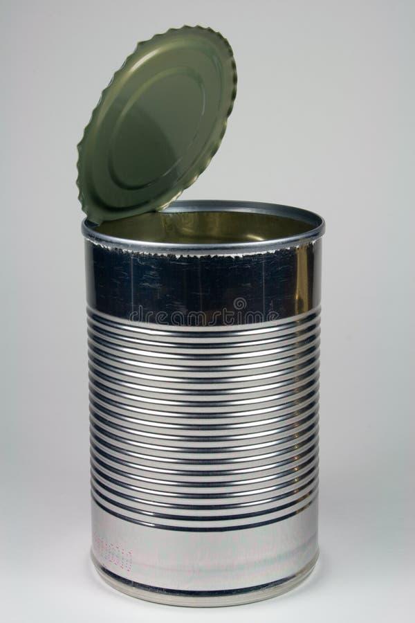 A sopa de aço vazia pode - aberto foto de stock royalty free
