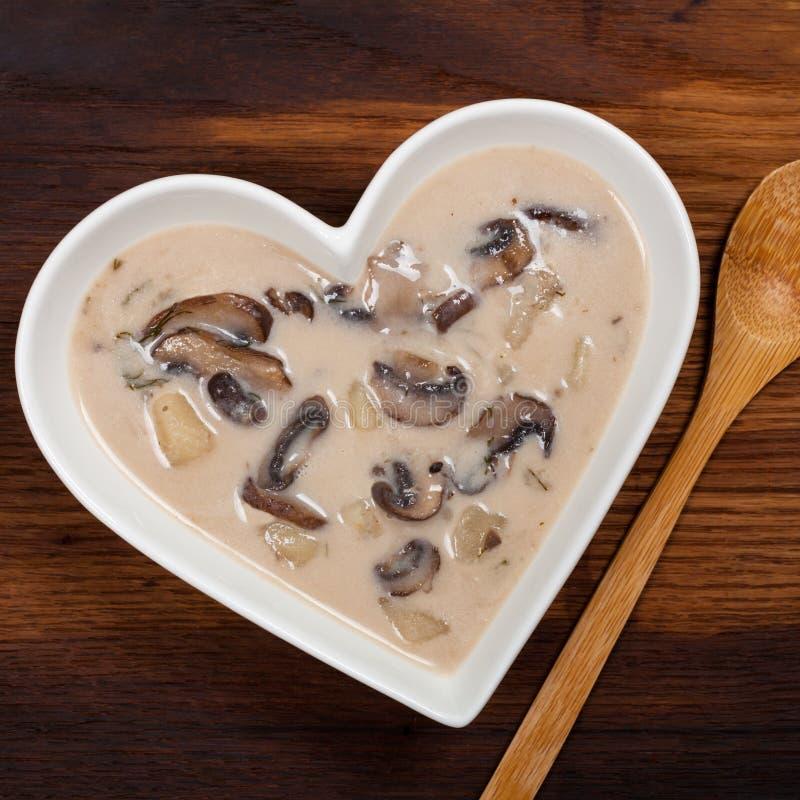Sopa de batata do cogumelo fotos de stock