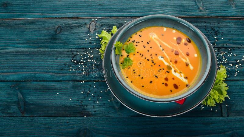Sopa de calabaza Alimentos saludables foto de archivo