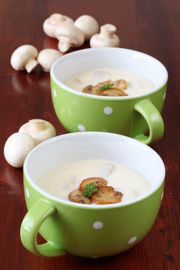 Sopa de cogumelo imagem de stock royalty free