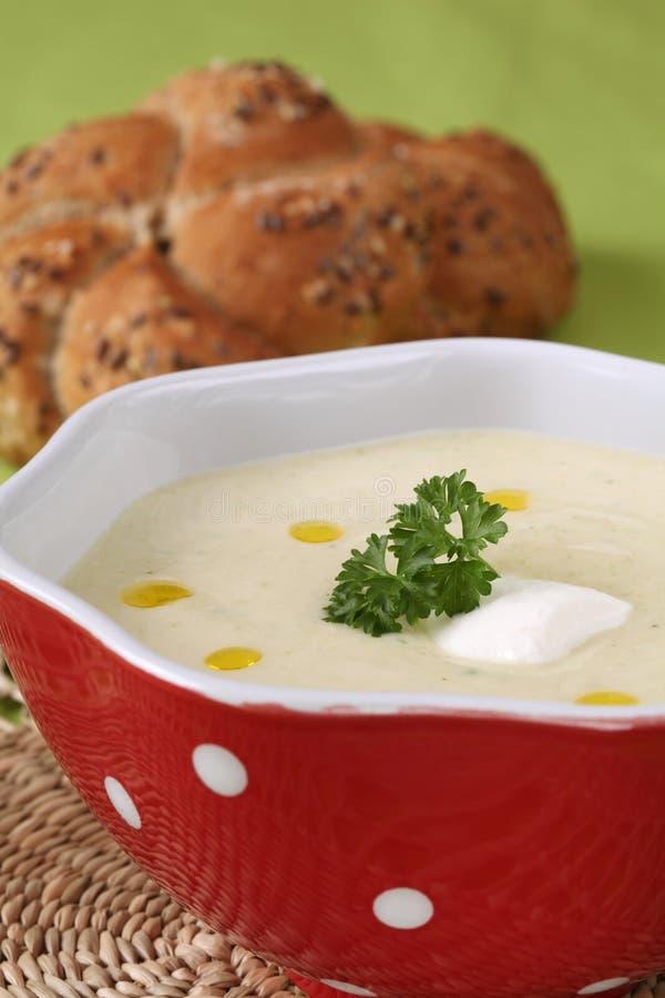 Sopa de creme vegetal fotografia de stock royalty free