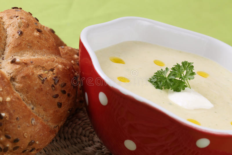 Sopa de creme vegetal imagem de stock royalty free