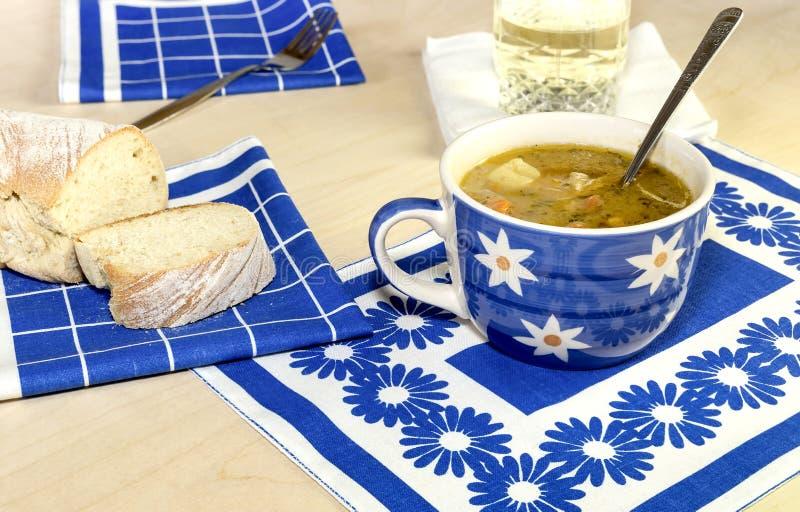 A sopa de ervilha fotografia de stock
