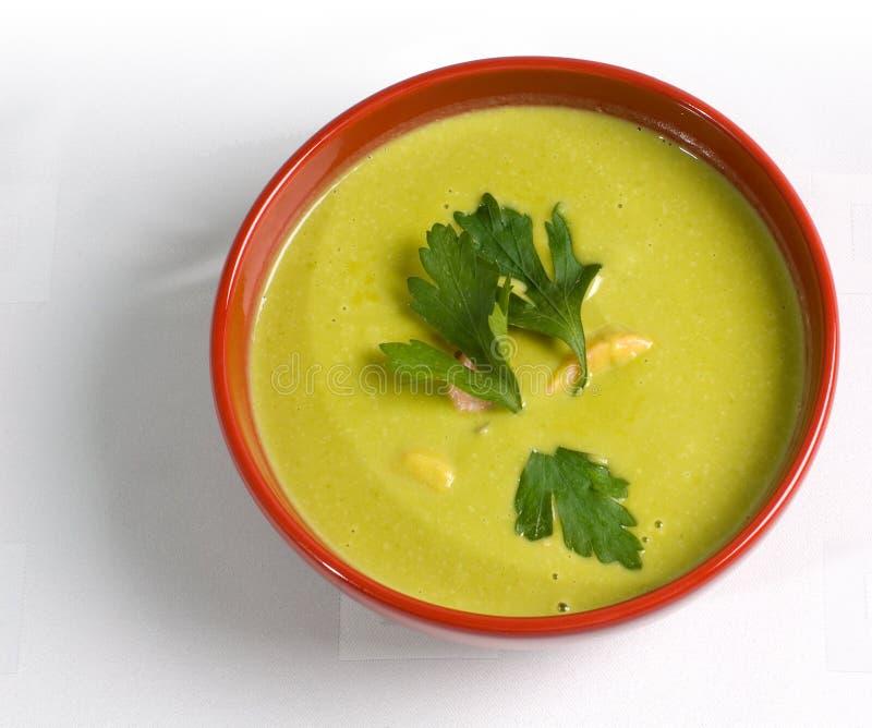 Sopa de ervilha verde imagem de stock