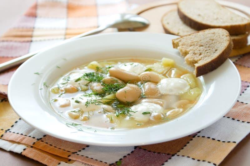 Sopa de feijão branco foto de stock