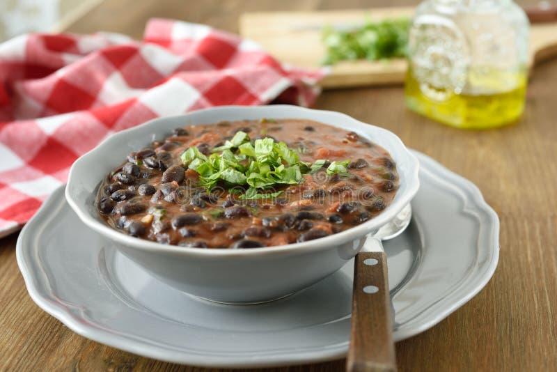 Sopa de feijão preto imagem de stock royalty free
