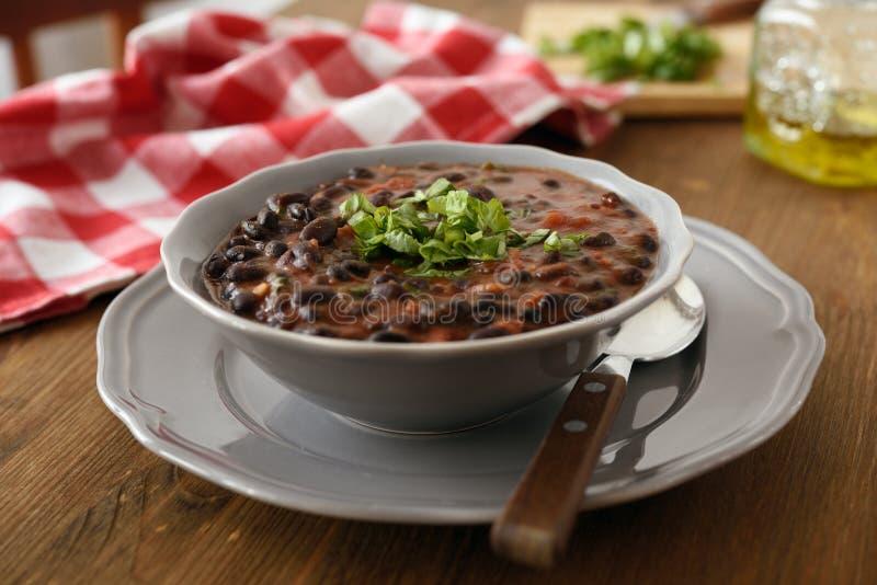 Sopa de feijão preto foto de stock royalty free