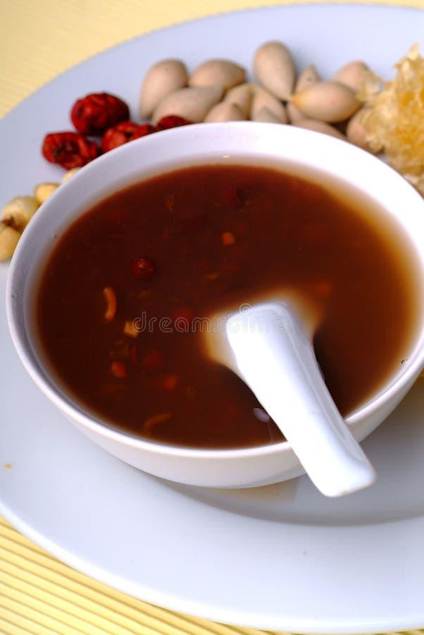 Sopa de feijão vermelho fotografia de stock