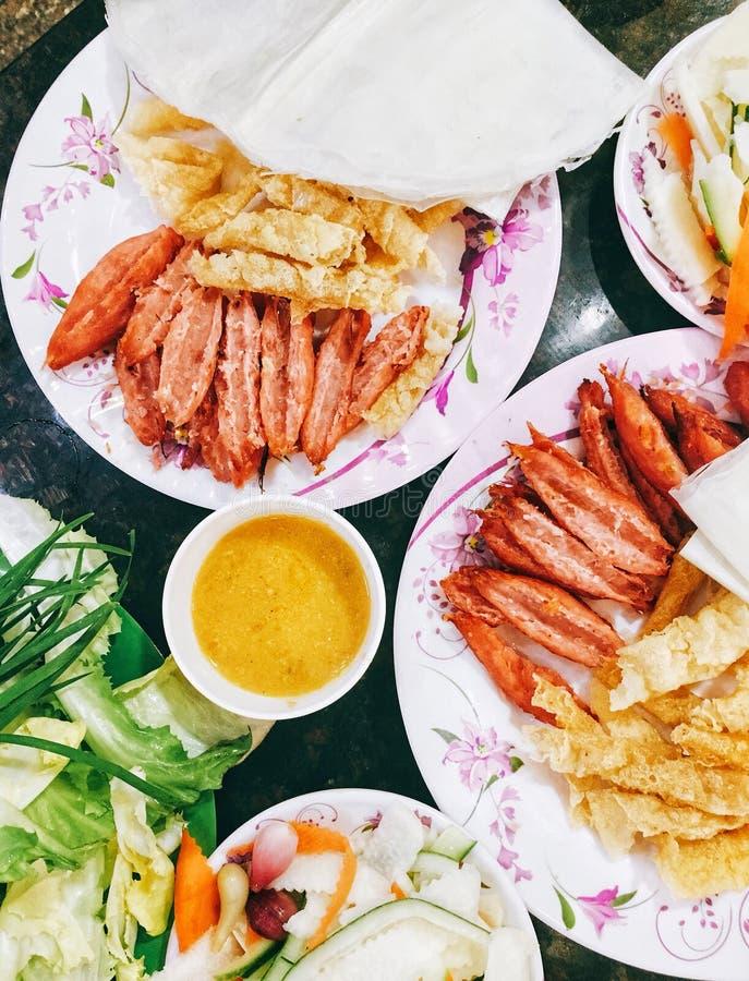 Sopa de fideos de los pescados de Chau doc. foto de archivo libre de regalías
