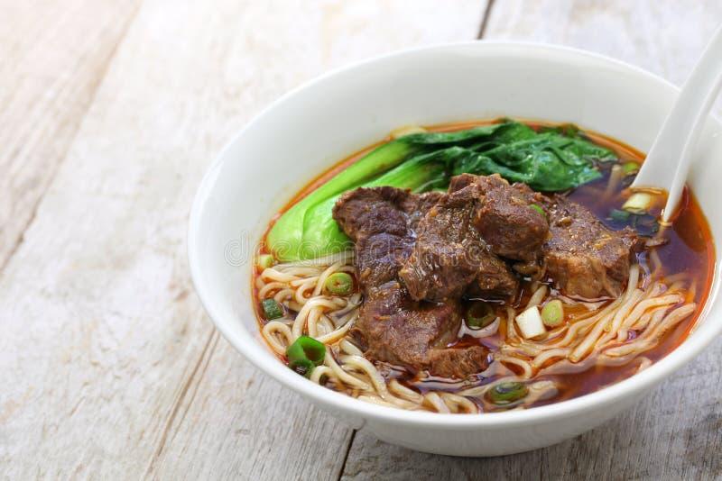 Sopa de fideos taiwanesa de la carne de vaca foto de archivo libre de regalías