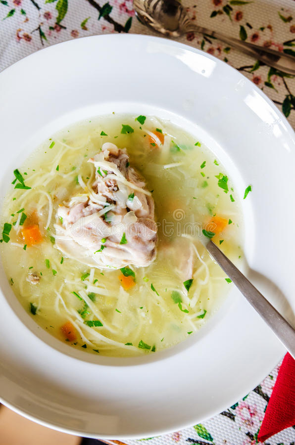 Sopa de galinha foto de stock royalty free