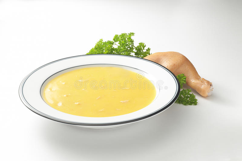 Sopa de galinha cremosa imagem de stock