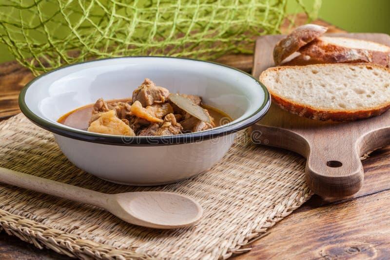 Sopa de goulash imagens de stock