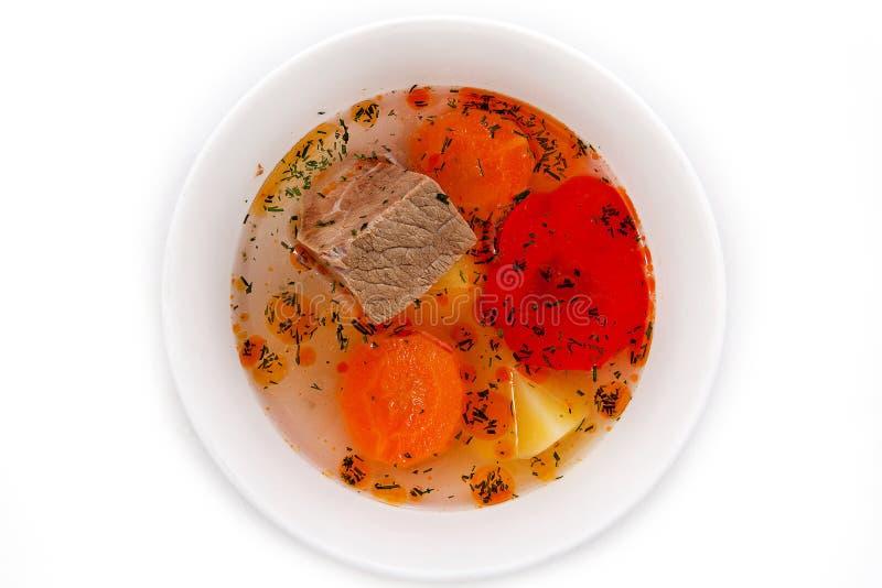 Sopa de la carne de vaca con las verduras foto de archivo libre de regalías