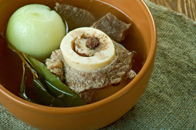 Sopa de la pimienta de la carne de cabra foto de archivo libre de regalías